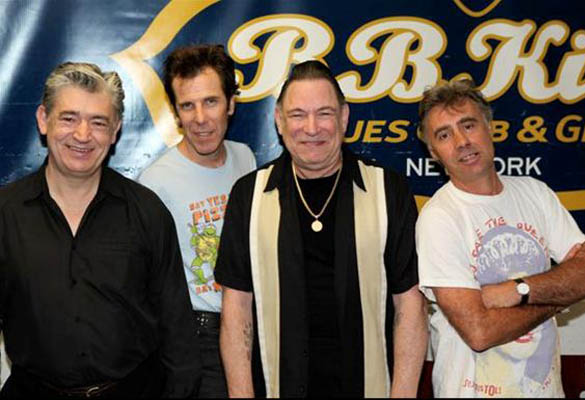 Chris Spedding, Slim Jim Phantom (Stray Cats), Robert Gordon and Glen Matlock (Sex Pistols)