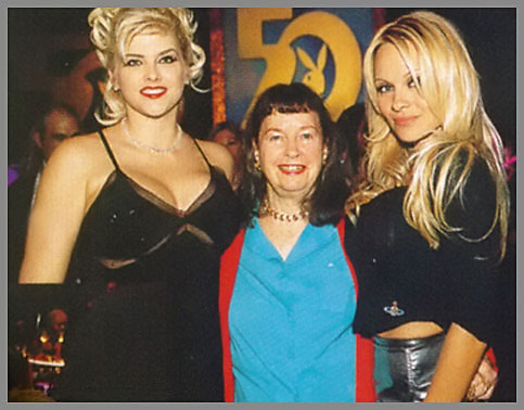 Bettie Page at Playboys 50th with Anna Nicole Smith and Pamela Anderson