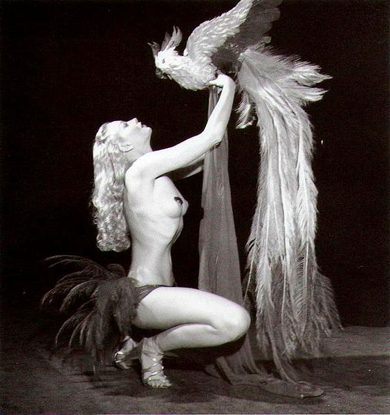 Lili St Cyr with Bird