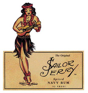 Sailor Jerry Spiced Rum Hula Girl