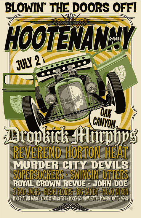 hootenanny-2011-band-lineup-schedule-poster