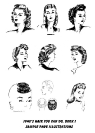 1940 HairStyles Illustrations