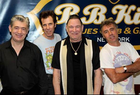 Chris Spedding, Slim Jim Phantom (Stray Cats), Robert Gordon and Glen Matlock (Sex Pistols)
