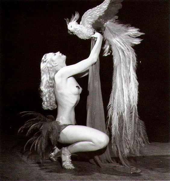 Lili St Cyr with Bird