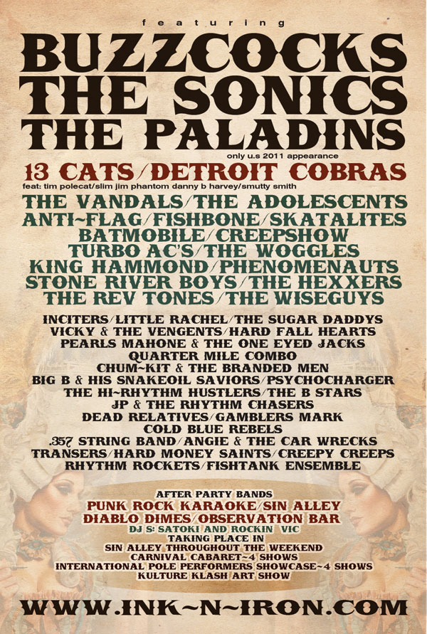 2011 Ink -n- Iron Band Lineup Schedule